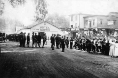 WW I - E Mill Road - Looking at the Center of Town