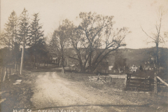 Mill St. (Now East Mill Rd)  heading to center of town