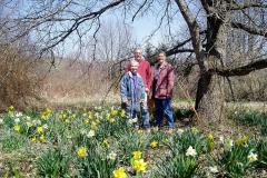 Caryl Brackenridge, Keith Hayes & Chris Steffan at the Helen Andrews Memorial Garden in Mill Pond Park