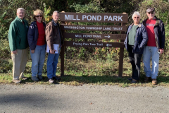 Celebrating the installation of the Mill Pond Park Sign 2019
