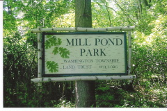 Mill Pond Park sign made by Keith Hayes