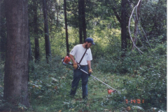 Tim Morris doing some trail maintenance